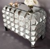 Silver mirror covered MDF wall unit bedroom 4 drawers chest sets