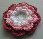 China Manufacturers sales Four-Layers Handmade Crochet Flower for Garment Accessories( 3057 )