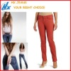 Customized Latest Sexy Women Colored Jeans