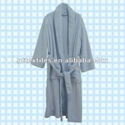 100% soft coral polyester bathrobe