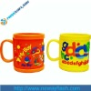 2012 newest plastic mugs with handles