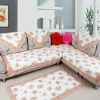 cotton quilted sofa cover mat/ quilted floor mat