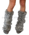 YR-024 Top fashion genuine Rabbit knitted leg warmer