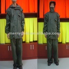 210D high density nylon oxford with pu coating Rain coat
