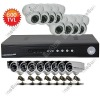 16CH H.264 CIF Realtime Recording Standalone CCTV DVR 16pcs 600TVL 24Leds Indoor/Outdoor IR CCD Camera Security System