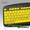 yellow big letter keyboard for kids and olds WKB-M818B