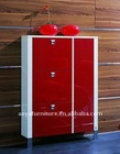 new style wooden high gloss shoe cabinet