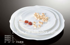 fine white porcelain round plate