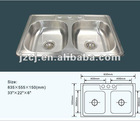 SS201 Stainless Steel Double Bowl Kitchen Sink(EXPORT Mexico)