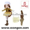 loongon vinyl doll Winter Suit Doll Set beautiful girl dolls