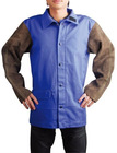Blue FR Body Charcoal-brown Leather Sleeves Jacket