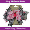 Pink Leopard Over the Top Bow/Toddle Bow