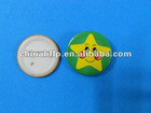 cartoon star lapel pin in round shape