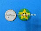 cartoon star lapel pin in round shape