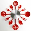 spork wall clock,Stainless Steel Clock,promotional products,metal clock