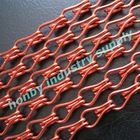 Anodized red color double hook link hanging aluminum chian fly screen