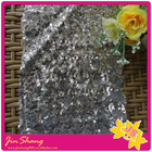 Shimmery Silver color POLY sequin fabric