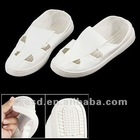 White Anti-static PU Faux Leather ESD Shoes