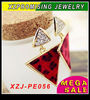 Fashion beautiful Punk gothic Triangle geometry ear stud Earrings Hot