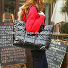 Black&red&brown down jacket fabrics handbag new style best price big capacity lady 's bag for Wholesale and Retail