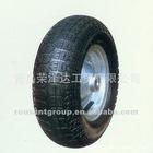steel rim & pneumatic tube PU wheel ypr016