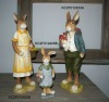 Polyresin easter bunny gifts