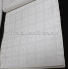 white 100% cotton dobby check bedding fabric