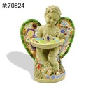 Hand Painted Resin Wing Angel Figure with Wash Basin for Christmas Gifts