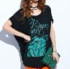 silk printed lady t-shirt casual