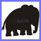 Elephant blackboard chalkboard sticker wall decal