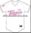 Girls pink Baseball Uniform with beautiful embroidery