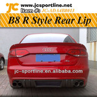 Carbon Fiber A4 B8 Rear Diffuser For Audi Rieger Style