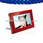 7Inch Multi-Function Digital Photo Frame With Red Acrylic Case