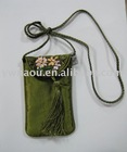 brocade mobile phone sock with flower