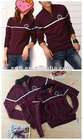 2013 stand collar zipped pullover couple sweater