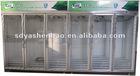 Luxurious Six door beverage display cooler/drinks display fridge/supermarket display refrigerator/upright freezer for grocery