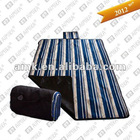 picnic rug with strip pattern