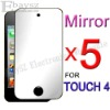 5 x Mirror Screen Guard Films For Apple Touch 4 4TH,IP-198