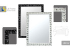 embossed mirror frame with hanger