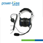Two Way Radio Headset Intrinsically Safe Aviation Headset Replacing for BDN6636,BDN6645,ENMN4016,AZRMN4032(PTE-750)