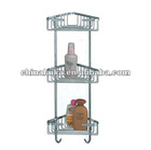 triple tier bathroom corner shelf baskets WT-546