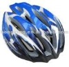 Bicycle helmet cycling helmet in blue and white