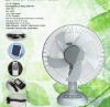 New products!!14''/16'' rechargeable Solar emergency Fan with light