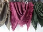 afghanistan jacquard scarf, container left stock head scarf