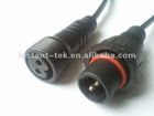 waterproof M18 air compressor electrical plug connector