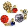 Sparking rhinestone earphone jack dust cap plug