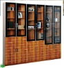 #201-5 6 door bookcase in maple color