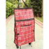 Adjustable shopping trolley