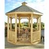 Wooden Outdoor Gazebo, Patio Pavilion, Garden House