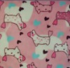 polyester printed flannel fabric for baby blanket /pajamas